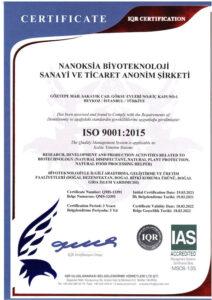 ISO 9001:2015 Sertifikası